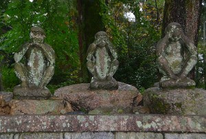 3 monkeys at Hiyoshi Shrine